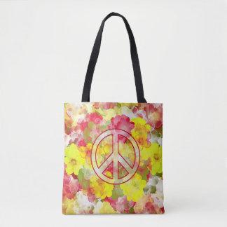 Blumen-Power-Frieden Tasche