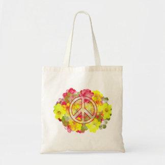 Blumen-Power-Frieden Tragetasche
