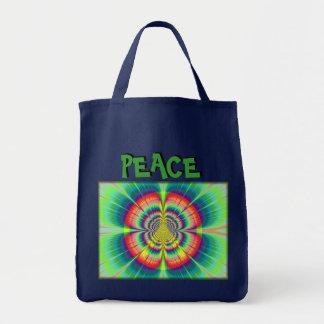 Blumen-Power-Friedenslebensmittelgeschäft-Tasche Tragetasche
