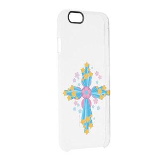 Blumen-Power-Kreuz Durchsichtige iPhone 6/6S Hülle
