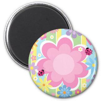 Blumen-Power-Magnet Runder Magnet 5,7 Cm