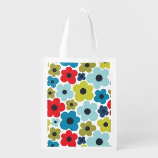 Blumen-Power-Muster Wiederverwendbare Einkaufstasche