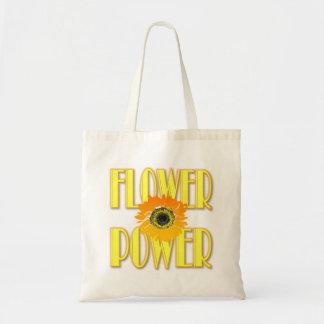 Blumen-Power-Tasche - Sonnenblume-Entwurf Tragetasche