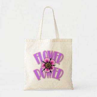 Blumen-Power-Taschen-Taschen-- lila u. rosa Tragetasche