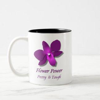 Blumen-Power Zweifarbige Tasse