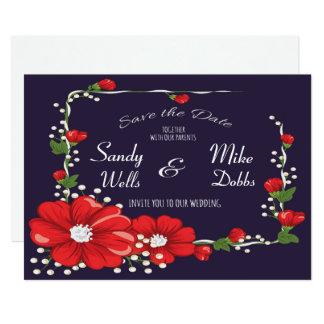 Blumen-Rahmen Save the Date 12,7 X 17,8 Cm Einladungskarte