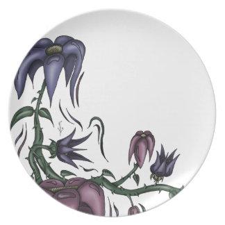 Blumen-Rebe Melaminteller