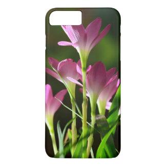Blumen, rosa Blumen, Lilien-Blumen, Blätter iPhone 8 Plus/7 Plus Hülle