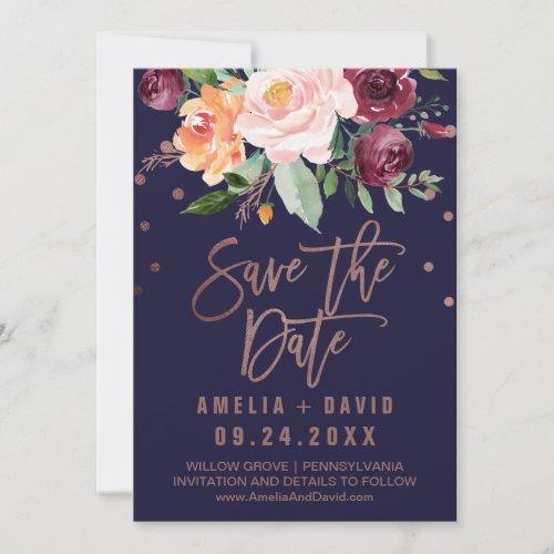 ... Waldhochzeit Einladung, Blumen| Rosen Gold Des Herbst Save The Date  Save The Date, Indische Hochzeit ...