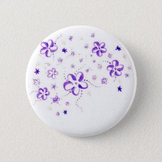 Blumen Runder Button 5,1 Cm