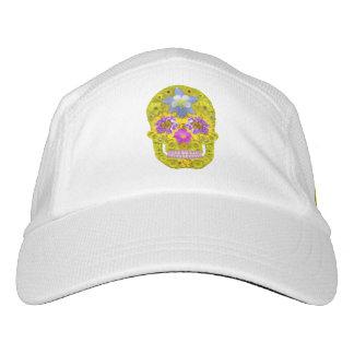 Blumen-Schädel 3 Headsweats Kappe