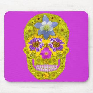 Blumen-Schädel 3 Mousepad