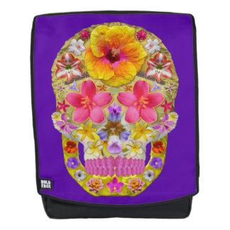 Blumen-Schädel 4 - tropisch Rucksack