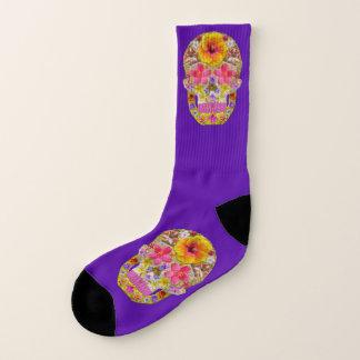 Blumen-Schädel 4 - tropisch Socken