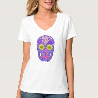 Blumen-Schädel 5 T-Shirt