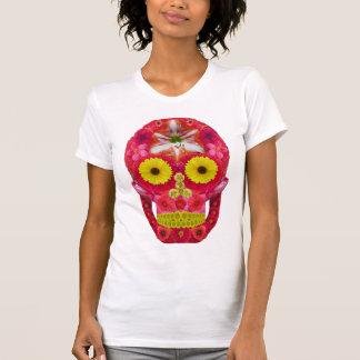 Blumen-Schädel 6 T-Shirt