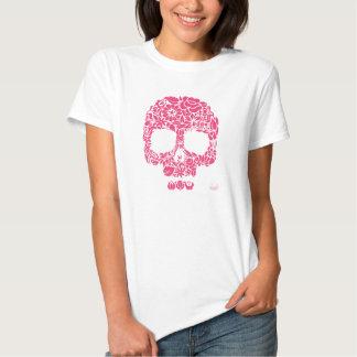 Blumen-Schädel-Shirt Shirt