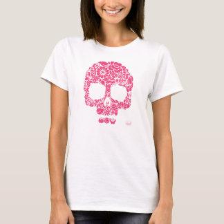 Blumen-Schädel-Shirt T-Shirt