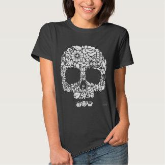 Blumen-Schädel Shirts