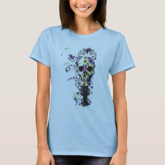 Blumen-Schädel T-Shirt