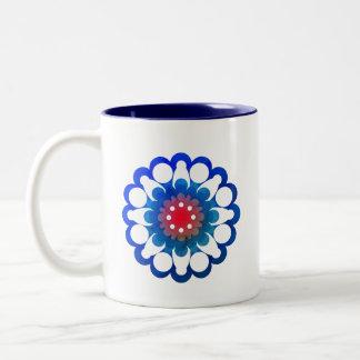 Blumen-Schale - Dämmerung Zweifarbige Tasse