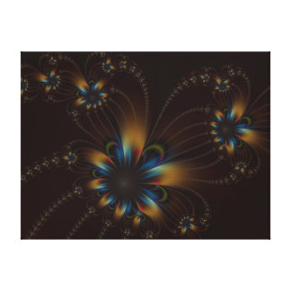 Blumen-Schnüre auf Schokoladen-Leinwand-Druck Leinwanddruck