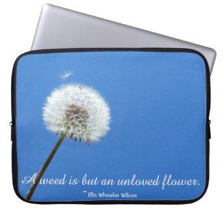 Blumen sind Glück-kundenspezifische Laptop-Hülse Laptopschutzhülle