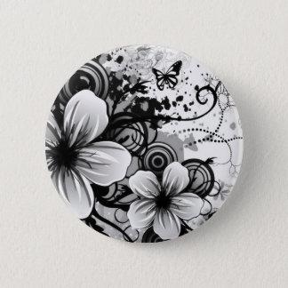 Blumen-Skizze-runder Knopf Runder Button 5,7 Cm