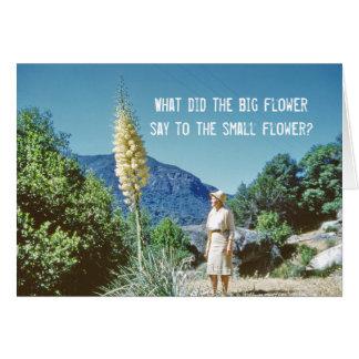 Blumen-Spaß Grußkarte