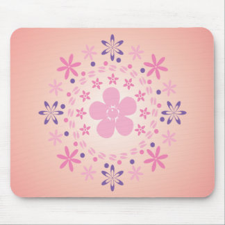 Blumen-Spirale: Vektorkunst: Mousepad