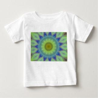 Blumen-/Stern-Kaleidoskop Baby T-shirt