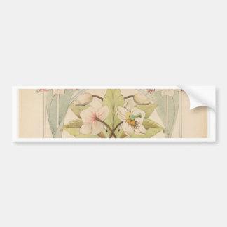 Blumen-Studie 2 - französisches Artporträt Autoaufkleber