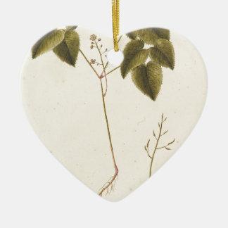 Blumen-Studie - Watercolor Keramik Herz-Ornament