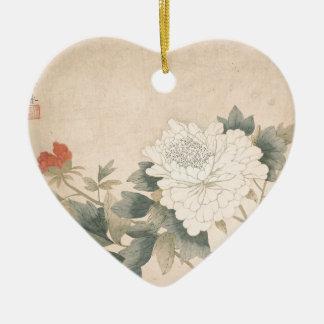 Blumen-Studie - YUNBing (chinesisch) Keramik Herz-Ornament