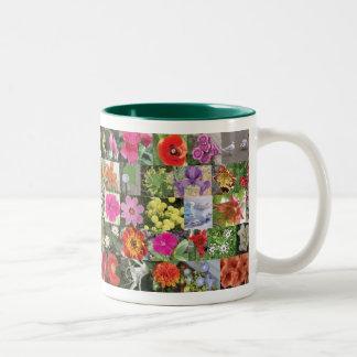 Blumen-Tasse 2 Zweifarbige Tasse