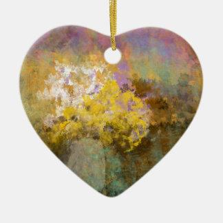 Blumen-Topf Keramik Herz-Ornament