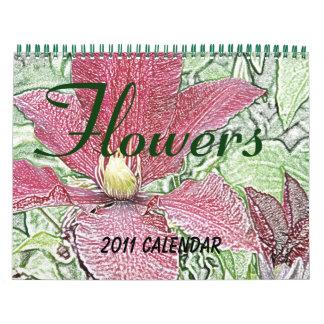 Blumen tragen 2011 ein abreißkalender