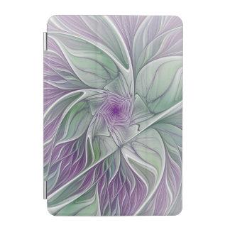 Blumen-Traum, abstrakte lila grüne Fraktal-Kunst iPad Mini Hülle