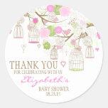 Blumen u. Birdcages danken Ihnen Runde Sticker