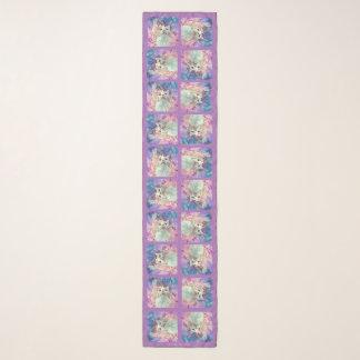 """Blumen u. Flutterbys 16"""" x 72"""" lang Schal"""