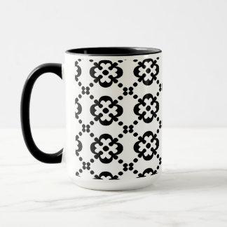 Blumen- u. Punkt-Muster Tasse