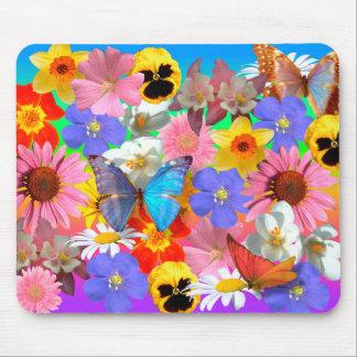 Blumen u. Schmetterlinge Mousepads