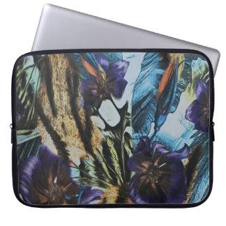 Blumen- und abstrakte Entwurfs-Laptop-Hülse Laptopschutzhülle
