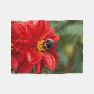 Blumen- und Bienen-Fleecedecke Fleecedecke