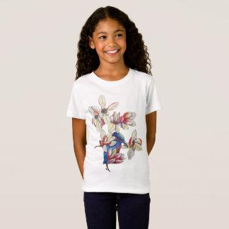 Blumen und ein Vogel T-Shirt