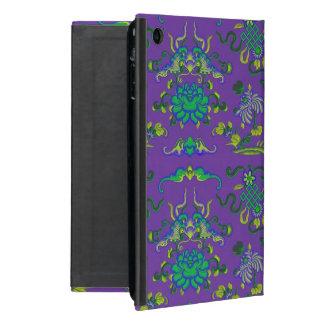 Blumen und Formen auf Lila iPad Mini Hülle
