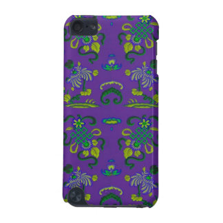 Blumen und Formen auf Lila iPod Touch 5G Hülle