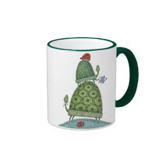 Blumen- und Frosch-Tasse