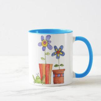Blumen- und Frosch-Tasse Tasse