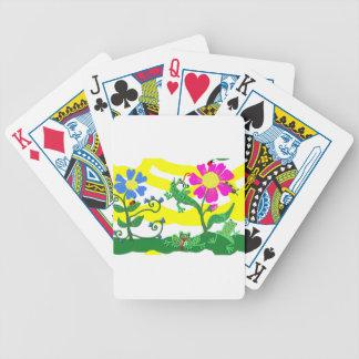 Blumen und Frösche Bicycle Spielkarten